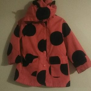 Pink and Black Raincoat